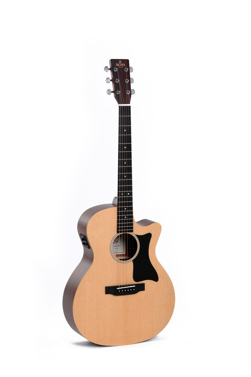 Sigma GMC-STE Grand OM Acoustic Electric Guitar - Spruce/Mahogany