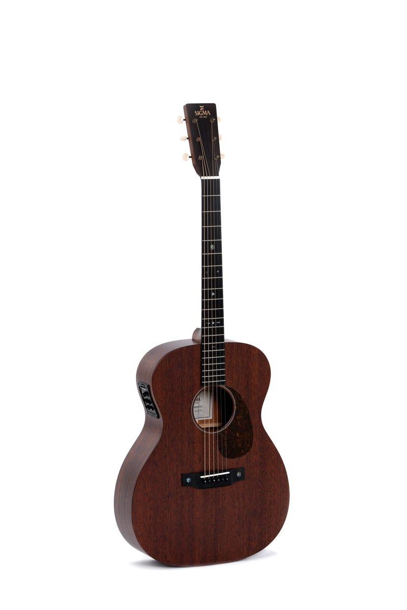 Sigma S000M-15E 000 Shape Acoustic Electric Guitar - Solid Mahogany