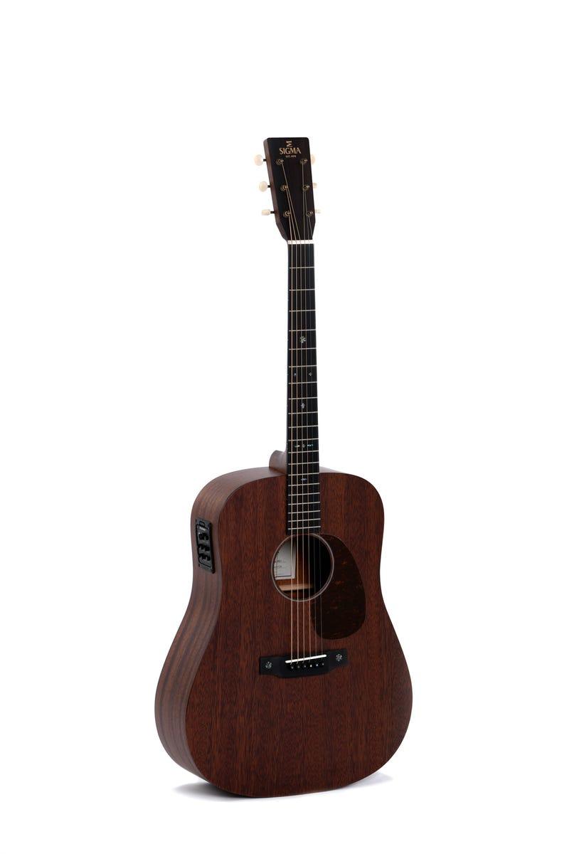 Sigma SDM-15E 15-Series Acoustic Electric Guitar - Solid Mahogany
