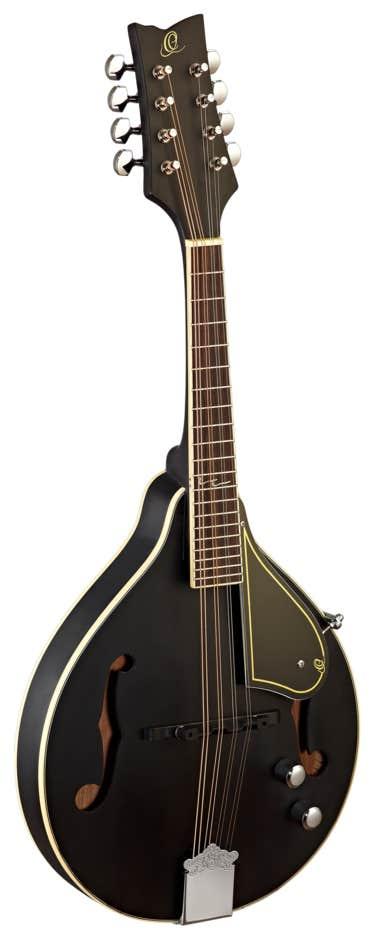 Ortega RMAE40SBK A-Style Mandolin - Black