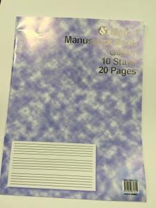 MANUSCRIPT BK 10ST 20PG GIANT /  (MUSIC SALES)
