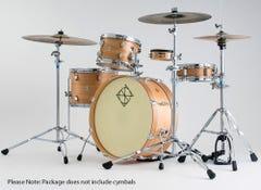 "Dixon ""Little Roomer"" 5-Pc Drum Kit - Natural Lacquer"