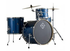 """Dixon Spark 4pc 18"""" Drum Kit w/Hardware and Cymbals - Ocean Blue Sparkle"""