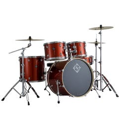 """Dixon Spark 5pc 22"""" Drum Kit w/Hardware and Cymbals - Champagne Sparkle"""