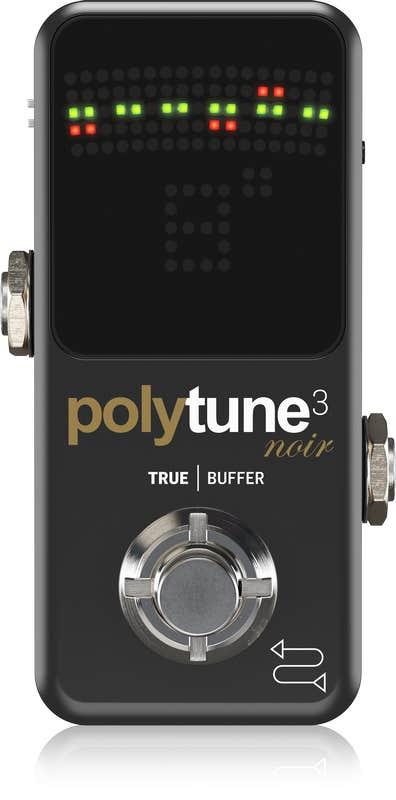 TC Electronic Polytune 3 Mini NOIR Polyphonic Tuner w/Built-In BONAFIDE BUFFER