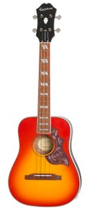 Epiphone Hummingbird Tenor Ukulele w/pickup & Gigbag - Faded Cherry Burst