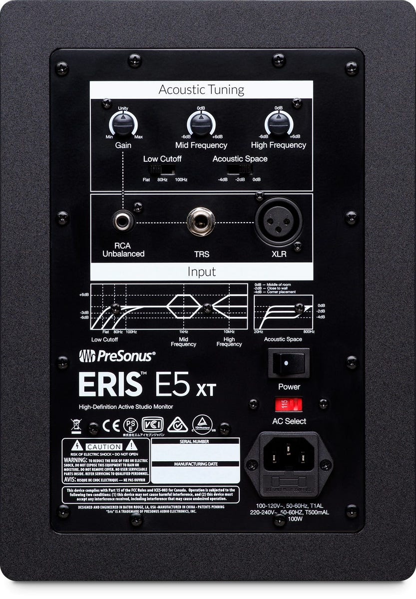 Presonus Eris E5 XT 2-Way Active Studio Monitors w/Wave Guide (Pair)