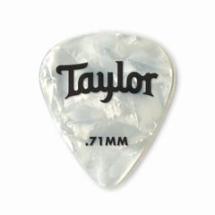 Taylor Celluloid 351 White Pearl 0.71 Guitar Picks - 12pk