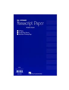 wide staff manuscript pad 32page /  (HAL LEONARD)