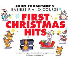 easiest piano course - first christmas tunes / thompson (willis)