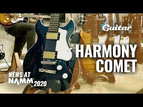 Harmony Standard Comet Electric Guitar W/MONO Vertigo Bag  - Transparent Red