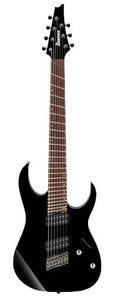Ibanez RGMS7 BK 7 String Multiscale Electric Guitar - Black