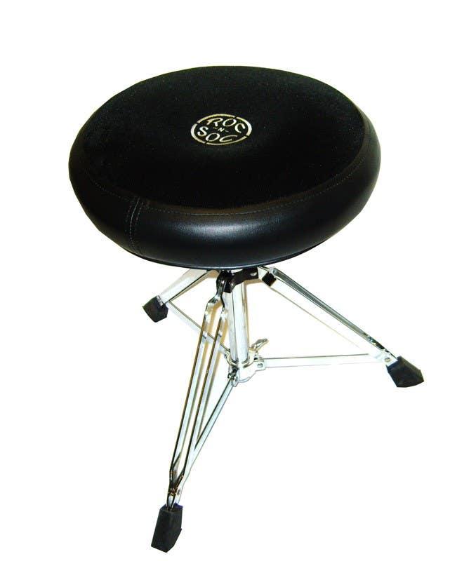 Roc-N-Soc Drum Throne - Manual Spindle w/Round BLACK Seat (MSRK)