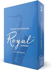 Rico ROYAL Tenor Sax Reeds - Box of 10 - Strength 2.5