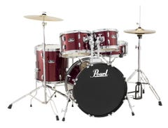 Pearl Roadshow Drum Package w/Cymbals and Hardware - Wine Red