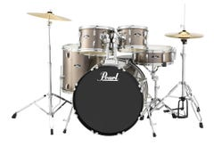 Pearl Roadshow Drum Package w/Cymbals and Hardware - Bronze Metallic