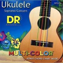 DR Multi-Colour Soprano/Concert Ukulele Strings (UMCSC)