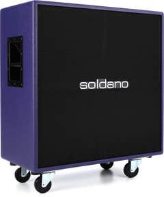 "Soldano 4x12"" Straight Cab - Purple Tolex / Black Grille"