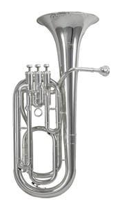 Schagerl SLBH800S Bb 3-Valve Baritone Horn - Silver Plate