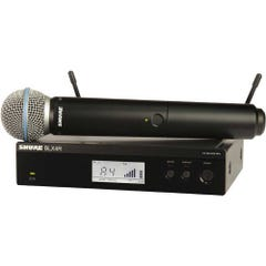 Shure BLX24R Handheld Beta 58 Wireless Mic System (M17)