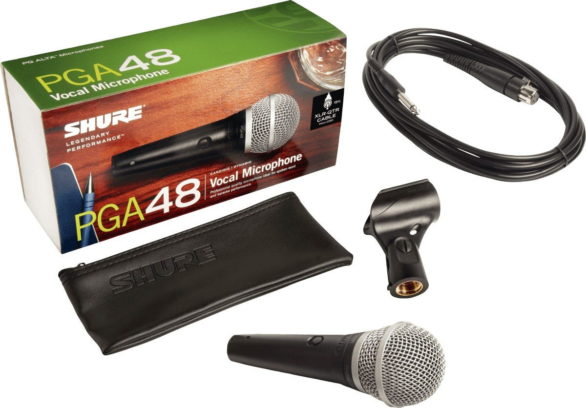 Shure PGA48 Handheld Vocal Microphone w/ 1/4