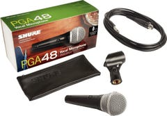"""Shure PGA48 Handheld Vocal Microphone w/ 1/4"""" cable"""