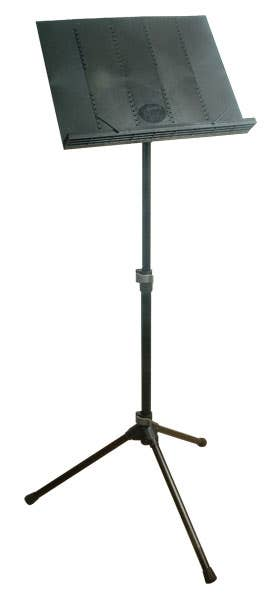 K&M Orchestral Music stand w/Collapsible Plastic Desk + Carry Bag