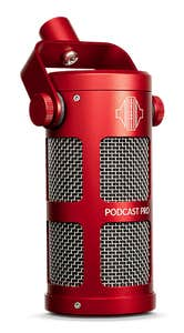 Sontronics Podcast Pro Dynamic Microphone - Red