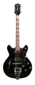 Guild Starfire V Semi-Hollow Electric Guitar w/Case - Black