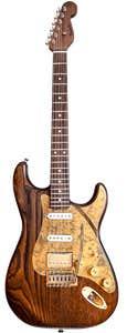 Paoletti Guitars Stratospheric Wine HSS - Natural Wood