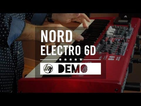 Nord Electro 6D 61-Key Semi-Weighted Waterfall Keyboard