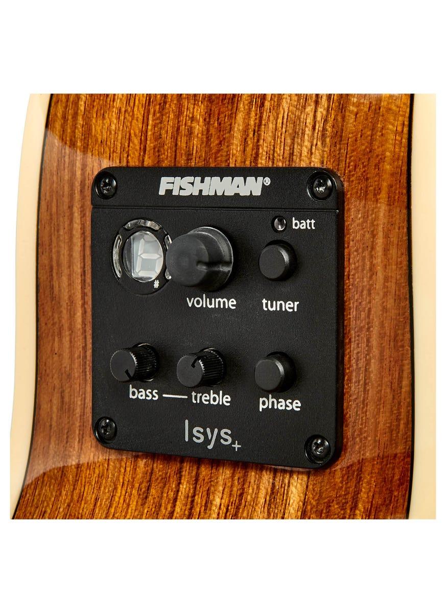 Tasman Seeker TA100-ME Mini Jumbo Acoustic Electric Guitar w/Case