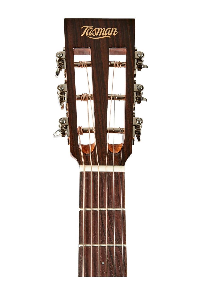 Tasman Seeker TA100-PE Parlour Acoustic Guitar w/Case