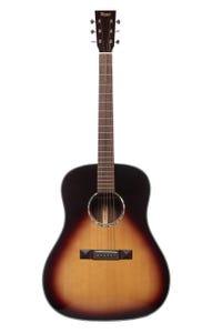 Tasman TA200D-EL Dreadnought Acoustic Electric Guitar w/Case - Left Handed