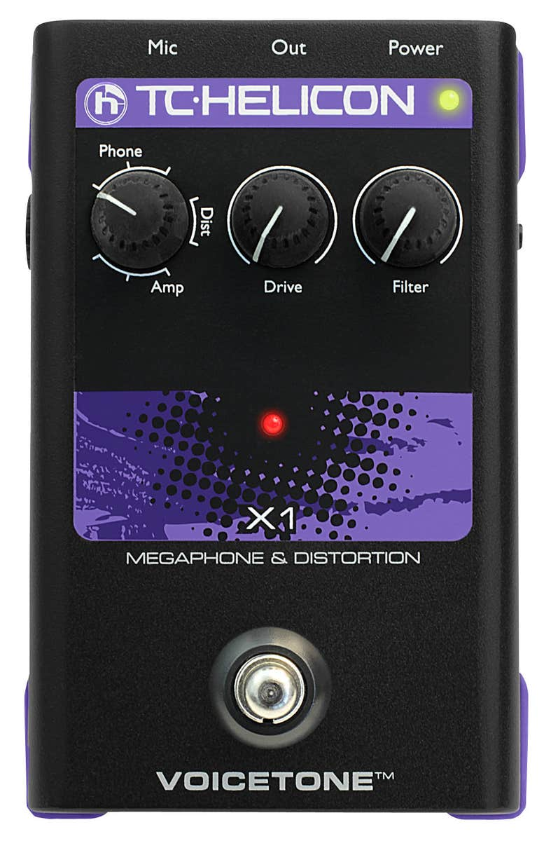TC Helicon VoiceTone X1 Megaphone & Distortion Pedal