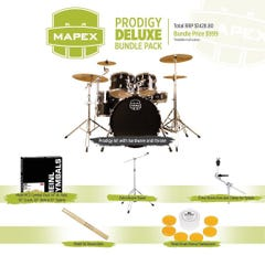 Mapex Prodigy 5-piece Drum Kit w/Hardware and Cymbal Pack - Black