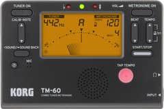 Korg TM60 Tuner/Metronome - Black (TM-60)
