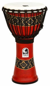 """Toca Freestyle 2 Series 10"""" Rope Tuned Djembe - Bali Red"""