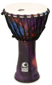 "Toca Freestyle 2 Series 10"" Rope Tuned Djembe - Woodstock Purple"