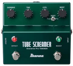 Ibanez TS808DX Tube Screamer Overdrive w/Clean Boost (TS-808DX)