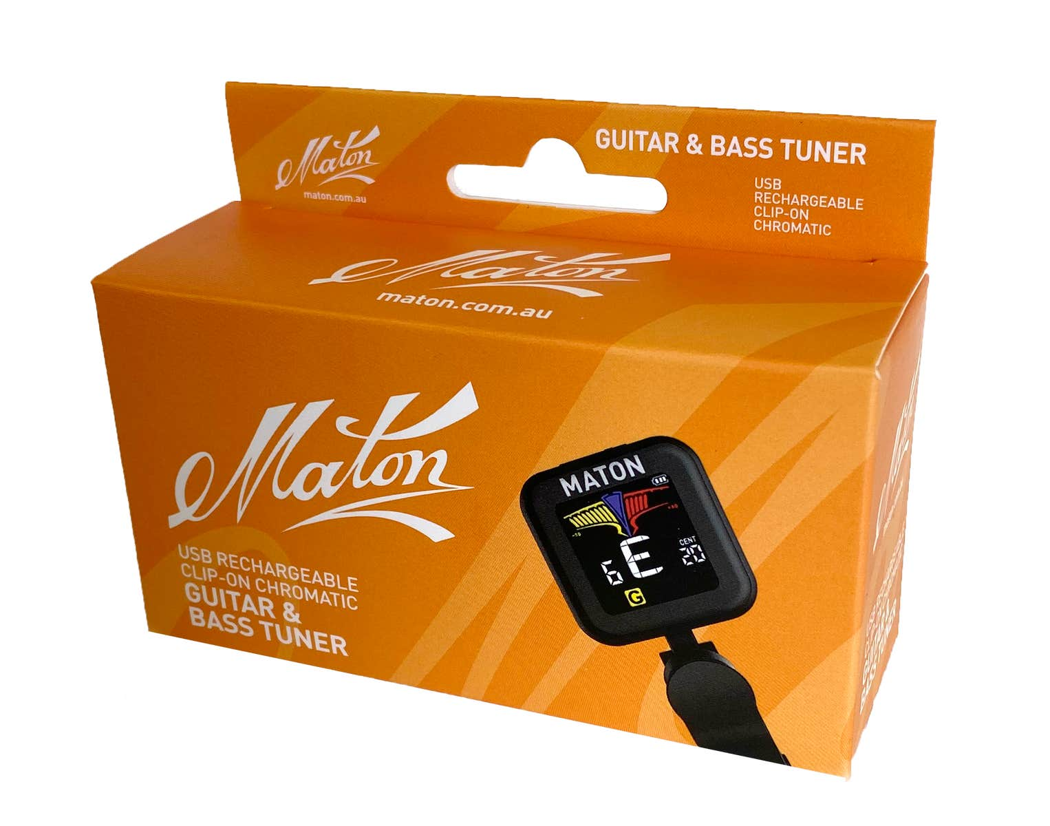 Maton USB Rechargable Clip-on Guitar + Bass Tuner