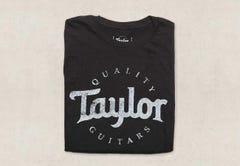Taylor Distressed Black Logo T-Shirt - Small