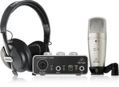 Behringer U-PHORIA STUDIO Recording Package (Interface + Mic + Headphones)
