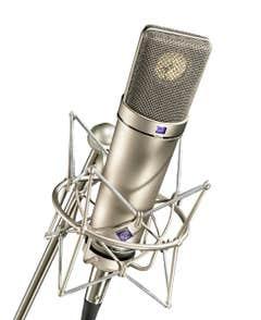 Neumann U87AI Condenser Microphone - Studio Set (Includes Suspension Mount)