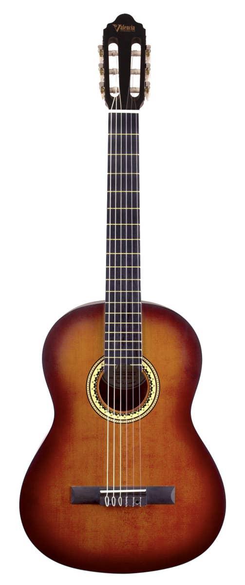 Valencia VC204HCSB 4/4 Classical Guitar - Classic Sunburst
