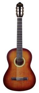 Valencia 200 Series Hybrid Full Size Nylon String Guitar - Classic Sunburst