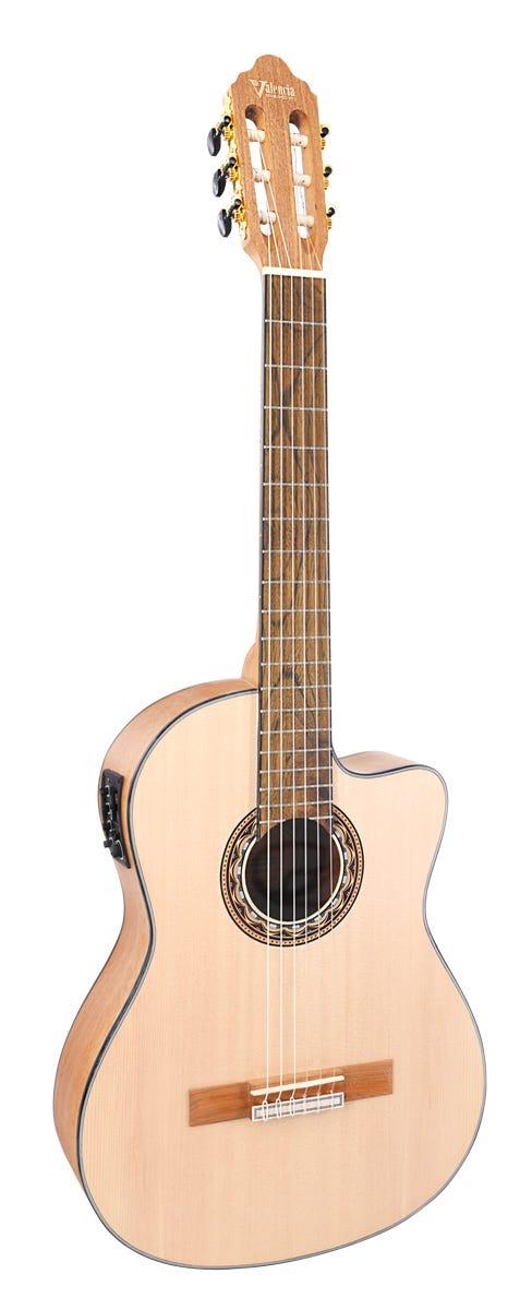 Valencia VC304CE Classical Guitar w/Cutaway and Pickup - Natural