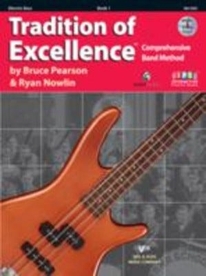 TRADITION OF EXCELLENCE BK 1 BK/DVD/KJOS BASS GUITAR