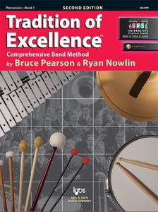 Tradition of Excellence Bk 1 Percussion BK/DVD / (KJOS)