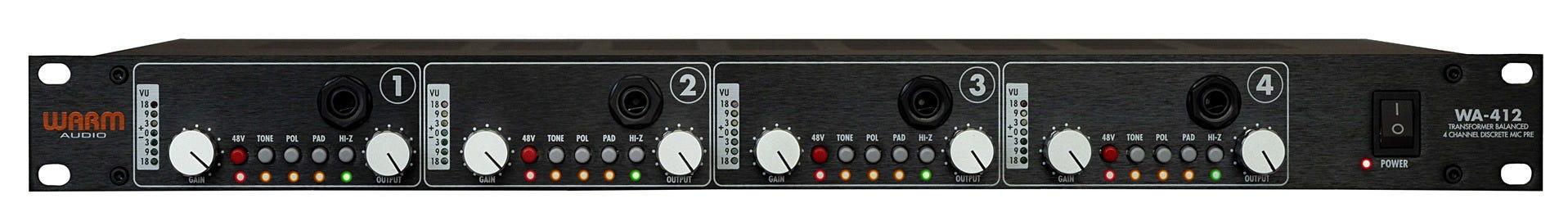 Warm Audio WA-412 Four Channel Mic Preamp